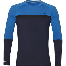 asics Thermopolis Plus LS Shirt Men Peacoat/Race Blue